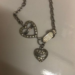 Juicy couture rhinestone heart necklace